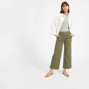 Everlane High Rise Wide Leg Crop Utility Pant